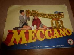 1940 Lot De 3 Notices (manuels D'instruction) Pour MECCANO Pour Boites  1A , 2A , 3A - Meccano