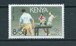 1991 Kenia Olympic Games Barcelona,tischtennis Used/gebruikt/oblitere - Kenia (1963-...)