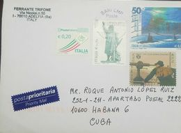 O) 2015 ITALY. SCULPTURE OF RE ENZO, SUBMARINE - ALPINE CLUB, COVER PRIORITY TO CARIBE, XF - 1946-.. Republiek