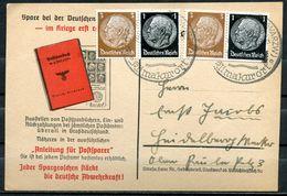 """German Empires 1940 Propaganda Postwerbekarte(Postsparer) Mit 2xZdr.Mi..W77 U.SST""""Bad Dürrheim-Klimakurort""""1 Beleg - Deutschland"""