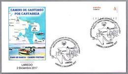 CAMINO DE SANTIAGO POR CANTABRIA - PASO EN BARCA - CAMINO COSTERO. Laredo, Cantabria, 2017 - Cristianismo