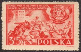 POL SC #B43 MNH 1946 Polish Volunteers In Spain CV $2.75 - Unused Stamps