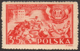 POL SC #B43 MNH 1946 Polish Volunteers In Spain CV $2.75 - 1944-.... Republic