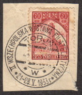POL SC #B28 On-piece 1933 Philatelic Exhibition At Torun W/show Cancel CV $10.00 - 1919-1939 Republic