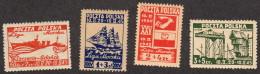 POL SC #B36-9 MNH 1945 Postal Maritime League CV $15.00 - Unused Stamps