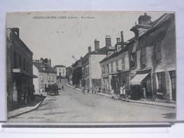 CHATILLON SUR LOIRE (45) - RUE NEUVE - ANIMEE - ATTELAGE - 1908 - Chatillon Sur Loire