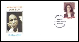 2013 Pakistan Jon Elia - Men Of Letters Series FDC - Pakistan