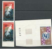 MALI  Scott C39x2, C40 Yvert PA39x2, PA40 (2) ** Cote 13,00$ 1966 NON PERFORÉ - Mali (1959-...)