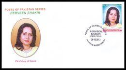 2013 Pakistan Perveen Shakir Poet FDC - Pakistan