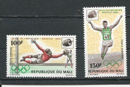 MALI  Scott C62-C63 Yvert PA62-PA63 (2) ** Cote 4,00$ 1968 - Mali (1959-...)