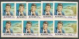 9x AJMAN - MNH - Famous People - John Kennedy - Imperf. - Kennedy (John F.)