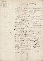 VP 2 FEUILLES - 1793 - MARIAGE - BELLEVILLE - MIRIBEL - CHARENTAY - Manuscripts