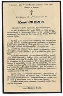 FLEMALLE : Souvenir Pieux De Monsieur René Cheret - Membre De La Croisade Eucharistique  - 1935 - Obituary Notices