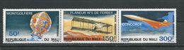 MALI  Scott C68-C70 Yvert PA68-PA70 (3) ** Cote 9,00$ 1969 - Mali (1959-...)