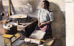 CPA REPUBLIQUE MEXICAINE MEXICO Tortillera Préparation Culinaire - Mexique