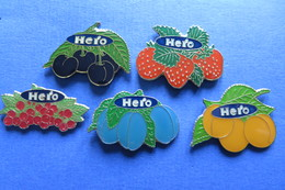 5 Pin's, HERO, Confiture, Marmelade, Fruits - Trademarks