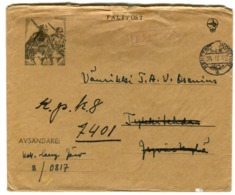 1942 WWII Winter War Cover Fältpost Kenttäposta ILLUSTRATED COVER SOLDIERS K.P.K.8 - Storia Postale