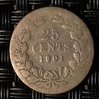 Nederland 25 Cent 1901 - [ 3] 1815-… : Kingdom Of The Netherlands