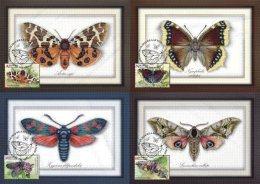 Belarus 2016 4 Maximum Cards Butterfly. Papillons Butterflies - Farfalle
