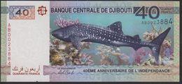 Djibouti 40 Francs 2017 Pnew Commemorative Issue UNC - Djibouti