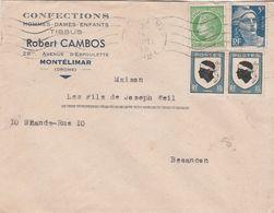 Enveloppe Commerciale 1948 / Robert CAMBOS / Confection / Av D' Espoulette / 26 Montélimar Drôme - Maps
