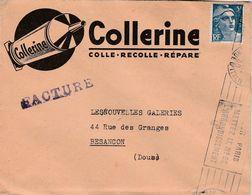 Enveloppe Commerciale 1948 / Collerine / Colle / 9 Rue Rubens / Paris - Maps