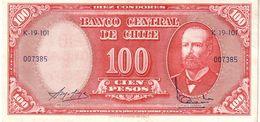Chile P.127 100 Pesos 1960  A-unc - Cile