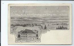 """SUISSE - Carte Précurseur Timbrée - Hôtel """"Vue Des ALPES"""" En FONTAINES - Canton Neuchatel - NE Neuchâtel"""