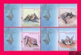 MOLDOVA 2017 Nature Fauna Flying Mammals Animals Bats 4v MNH - Bats