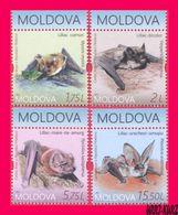 MOLDOVA 2017 Nature Fauna Flying Mammals Animals Bat Bats 4v MNH - Bats