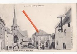 SOUVENIR DE RONQUIERES - L'Eglise Et La Place Du Jeu De Balle - Braine-le-Comte