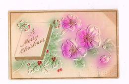 A Merry Christmas.Expédié De Bryan (Ohio).Carte En Relief. - Christmas