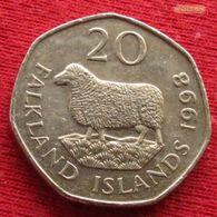 Falkland  Islands 20 Pence 1998 KM# 17  Malvinas Malwinen - Falkland Islands