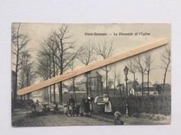 VIEUX-GENAPPE « La Chaussée Et L'Église «très Animée,Panorama (1906). - Genappe