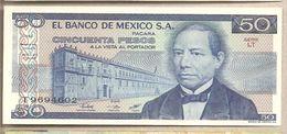 Messico - Banconota Non Circolata FdS Da 50 Pesos P-73a.36 - 1981 - Messico