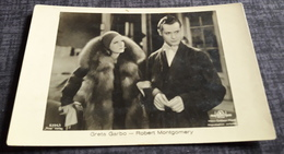 GRETA GARBO & ROBERT MONTGOMERY - Original Alte ROSS Film-Foto-Postkarte Ca. 14 X 9 Cm - 1708948 - Acteurs