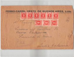 L1136 FERRO-CARRIL OESTE DE BUENOS AIRES TO BADIA CALAVENA ITALY - Lettres & Documents