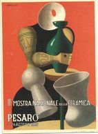 V1377 Cartolina Pubblicitaria - III Mostra Nazionale Della Ceramica - Pesaro 1952 - Illustrazione Illustration Baratti - Reclame