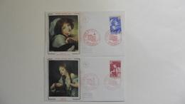France : FDC : 1 Er Jour : Croix Rouge  1971 : N°1700/1701  : 2 Enveloppes   Tournus - FDC