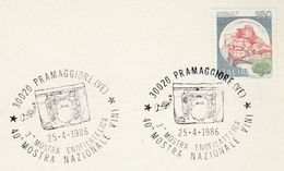 1986 Pramaggiore WINE EVENT COVER Italy Stamps Alcohol Card - Wines & Alcohols