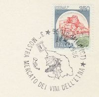 1986 Milo WINE EVENT COVER Italy Stamps Alcohol Card Grapes Fruit - Wines & Alcohols