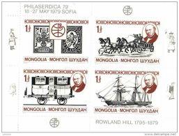 MONGOLIA 1979 Rowland Hill Sheetlet Unmounted Mint - Mongolei