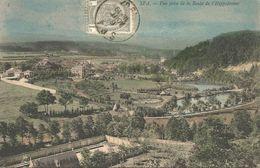 SPA.  -  Vue Prise De La Route De L'Hippodrome.. (scan Verso) - Spa