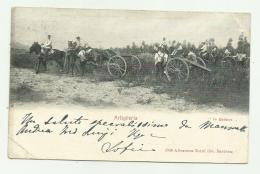 """ARTIGLIERIA """" IN BATTERIA """" VIAGGIATA 1902 FP - Regiments"""