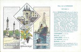 Carte Département  Gironde : Bordeaux, Lesparre, Blaye, Libourne, La Réole, Bazas. - Carte Geografiche