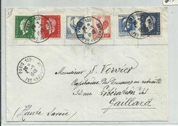 FRANCE - 6 TIMBRES SUR ENVELOPPE CAD PARIS 108 DU 3/9/1948 BOULEVARD HAUSSMANN DULAC COQ - France