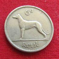 Ireland 6 Six Pence 1950 KM# 13a Dog  Irlanda Irlande - Ireland