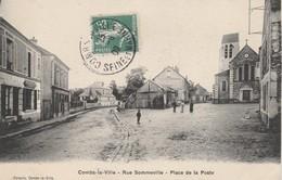 77 - COMBS LA VILLE - Rue Sommeville - Place De La Poste - Combs La Ville