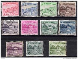 PAKISTAN 1963 Views With Redrawn Inscription 11 Values Used - Pakistan