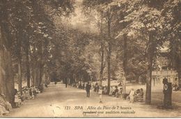 SPA.  Allée Du Parc De 7 Heures Pendant Une Audition Musicale. (scan Verso) - Spa